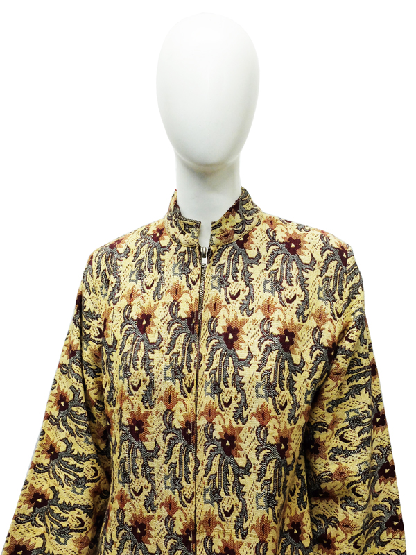 1970s Sherwani style front zipped coat