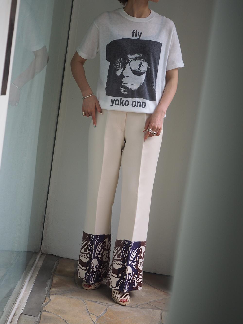 1970s Yoko Ono, fly T-shirt